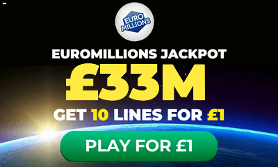 £79m Euromillions Jackpot - 10 Tickets for £1